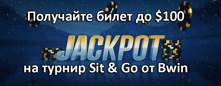 Получайте билет до $100 на турнир Sit & Go от Bwin
