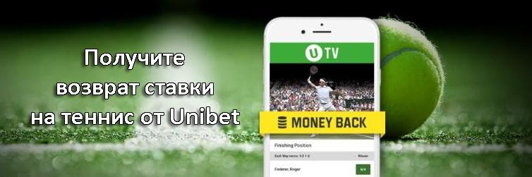 Получите возврат ставки на теннис от Unibet