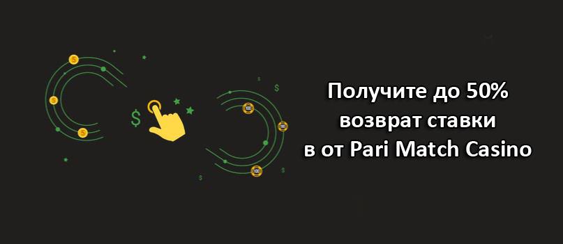 Получите до 50% возврат ставки в от Pari Match Casino